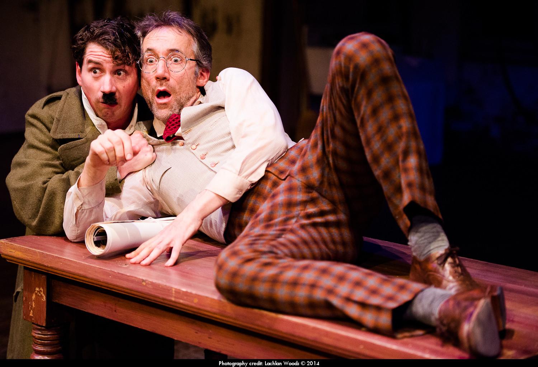 Hitler (Glenn van Oosterom) and Shlomo (Steve Gome)